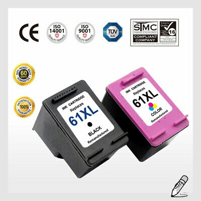 61 XL B & C Ink Cartridge Combo For HP 61XL Deskjet 2544, 2646, 2547, 2548, 2549 ()