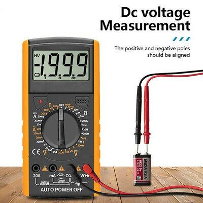 Acdc Voltmeter Ammeter Ohmmeter Volt Digital Multimeter Pocket Tester Meter