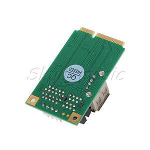 Mini PCI-E PCI express to PCI-E 1X Card adapter Riser Extender+USB port