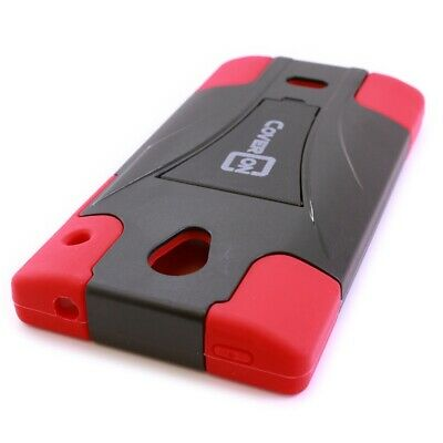 Red Crystal Case (For Sharp AQUOS Crystal Case - Red & Black Hybrid Rugged Hard Stand Phone Cover)