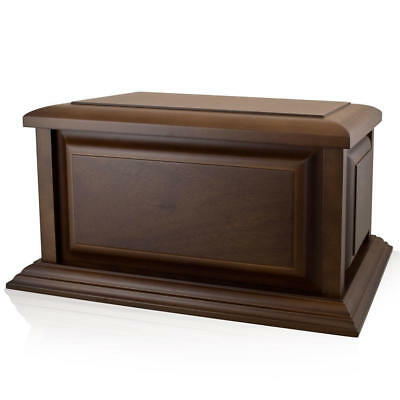 Perfect Memorials Large Traditional Walnut Wood Cremation Urn