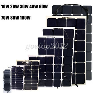 DIY-10W-To-100W-12V-Mono-Semi-Flexible-Solar-Panels-Caravan-Motorhome-Boat-RV