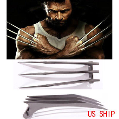 2pcs X-Men Wolverine Logan Blade Claws Paws Cosplay Mens Halloween Props - Wolverine Claws Halloween