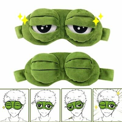 Pepe The Frog Sad 3D Eye Mask Cover Plush Toy Sleeping Aid Rest Anime Funny Gift