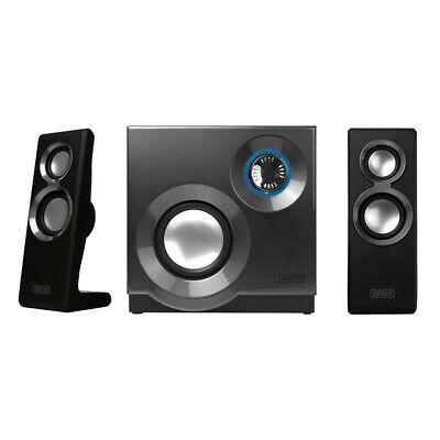60 WATT 2.1 Lautsprecher System Design Soundsystem Box Boxen Computer PC Laptop ()