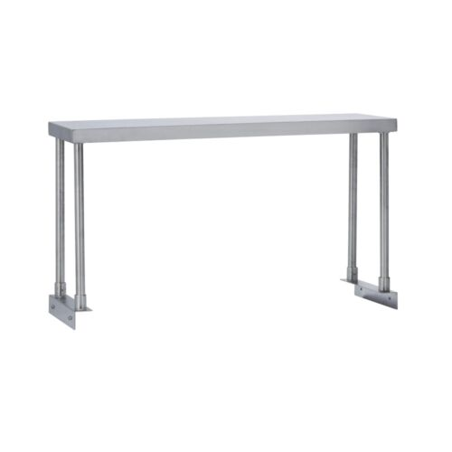 Commercial Kitchen Stainless Steel Single Overshelf for Work Tables 18X36