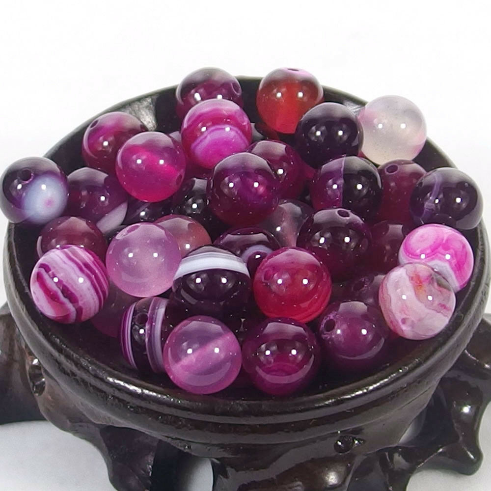 Bulk Gemstones I natural spacer stone beads 4mm 6mm 8mm 10mm 12mm jewelry design rose red agate