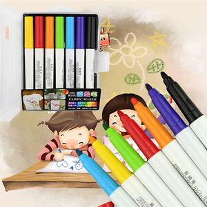 7 Colors Ceramic Glass Pens Marker Paint Shirt Mug Graffiti Drawing  Pens Set