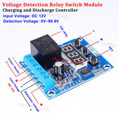 Dc 12v Voltage Detection Charging Discharge Protection Relay Onoff Switch Board