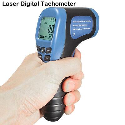 New Digital Non-contact Laser Photo Tachometer Gun Rpm Tach Tester Meter Blue