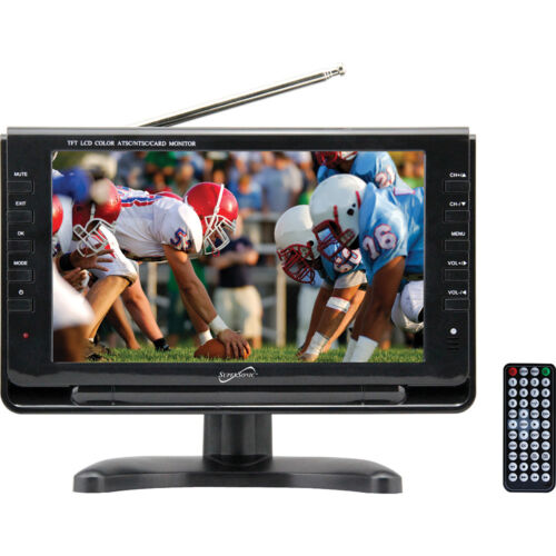 Supersonic 9 Inch Portable Digital LCD TV AC/DC Compatible w