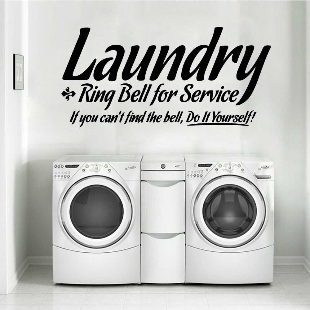 Home Decoration - Modern laundry Wall Stickers Nordic Style Home Decoration Vinyl Decals mural