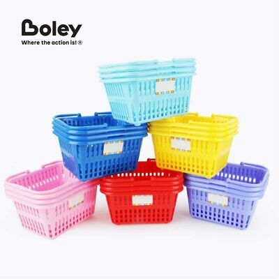 18 Ct Set Mini Shopping Basket Small Plastic Retail Shopping Baskets Whandles