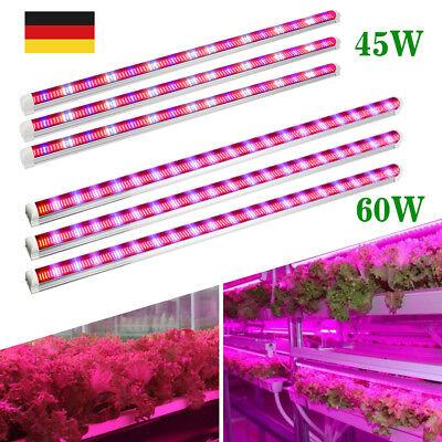 3x 45W 60W LED Wachsen Licht Streifen Vollspektrum T8 Röhre Garten Pflanzenlampe (T8 Led Wachsen)