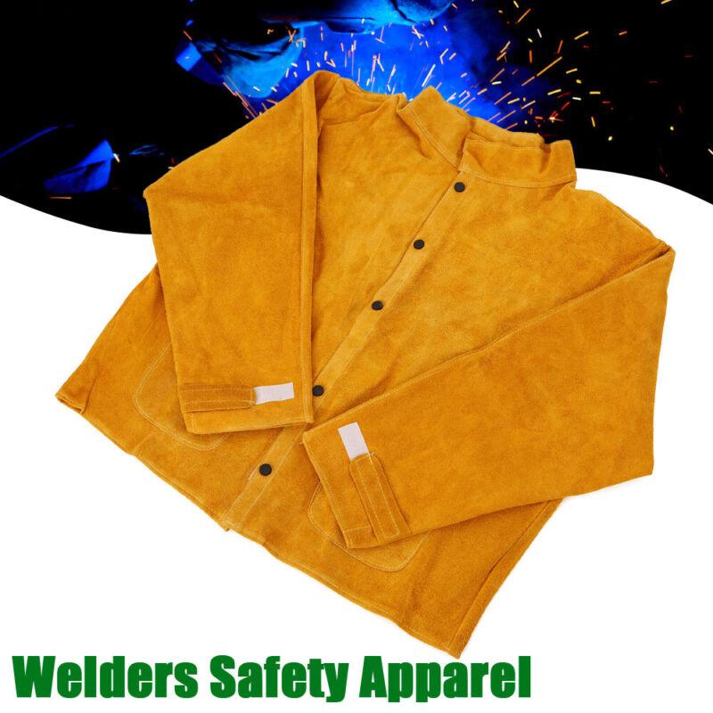 Leather Welding Jacket Coat Flame-Resistant Welder Leather L/XL/XXL/XXXL USA
