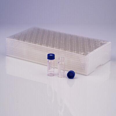 2ml Clear Autosampler Sample Vials Glass Hplc Container Flat Bottom 100pcs