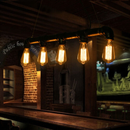 Iwhd Water Pipe Retro Vintage Ceiling Light Fixtures: Industrial Retro Vintage Style Water Pipe Pendant Lamp