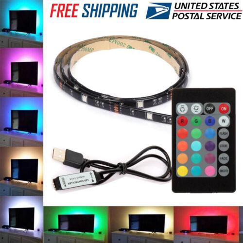USB Powered RGB Colour Change 5050 LED Strip Computer TV USB Backlight Light Kit