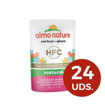 Almo Nature HFC Natural Wet Cat Food Pouch - Chicken  & Salmon (Pack Of 24 X55g)