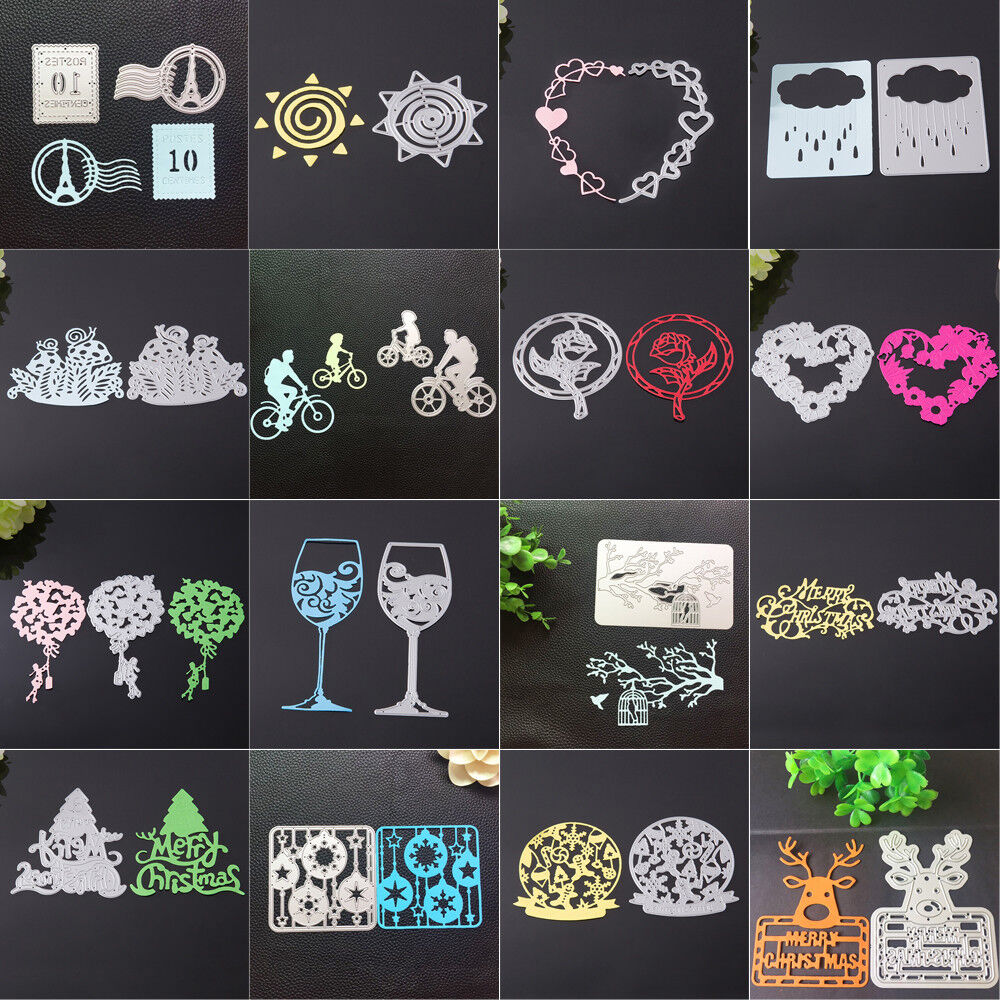 Merry Christmas Metal Cutting Dies Stencils Scrapbooking Embossing DIY Crafts