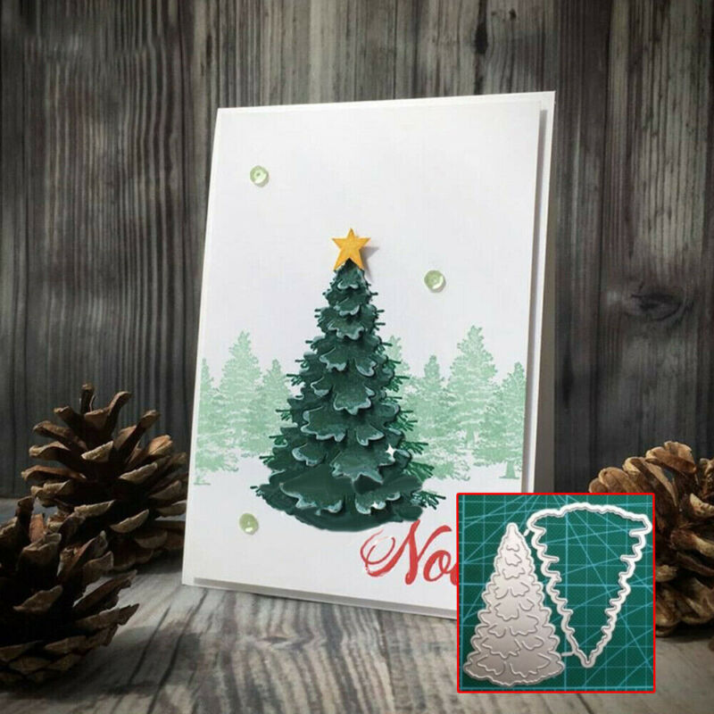 Christmas Tree Cutting Dies Xmas Metal Stencil DIY Scrapbooking Paper Card Craft