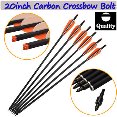20inch Crossbow Bolt Hybrid Carbon Arrow Point Moon Nock Archery Hunting Outdoor