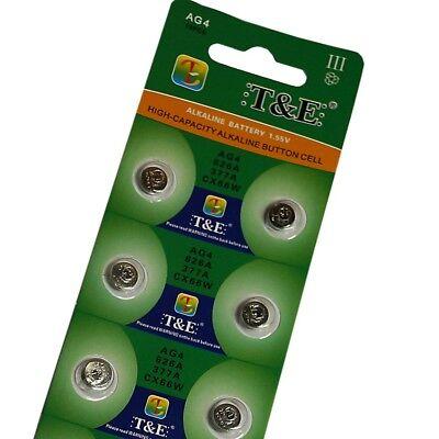 10x Uhrenbatterien AG4 BATTERIEN KNOPFZELLE UHREN BATTERIE NEU & OVP- G4