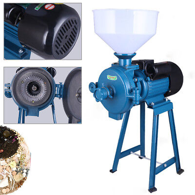 220V Electric E-Grinder Dry Cereal Mill Machine Corn Grain Wheat Coffee Rice USA