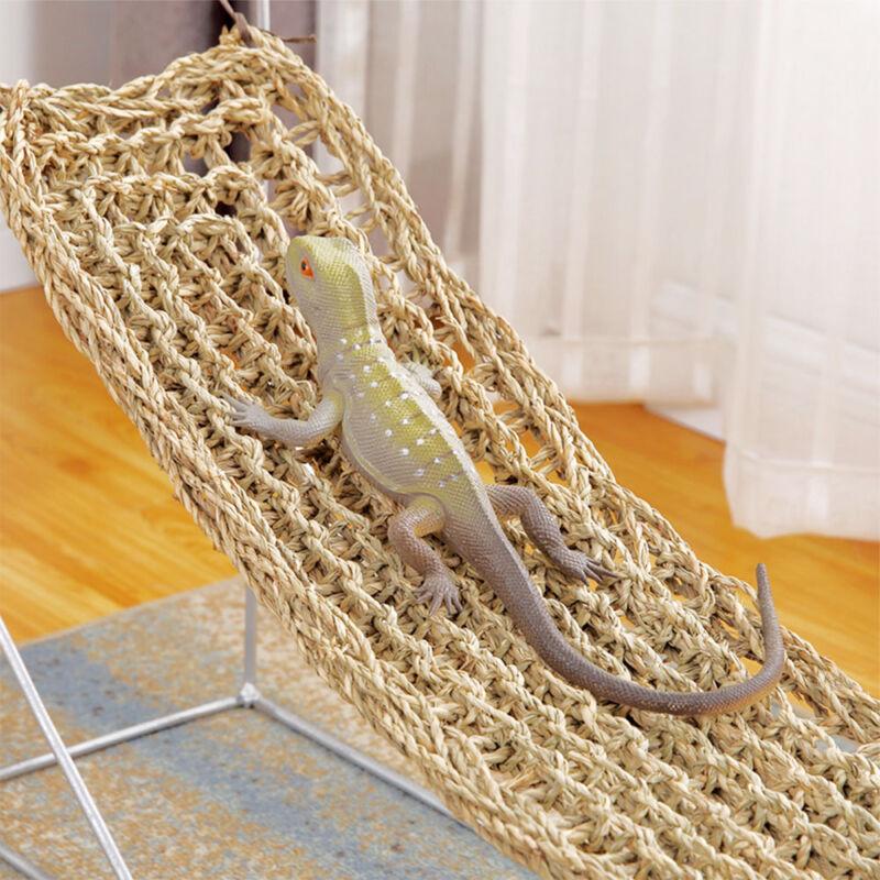 Lizard Lounger Hammock Braided Basking Platform Dragon Iguan