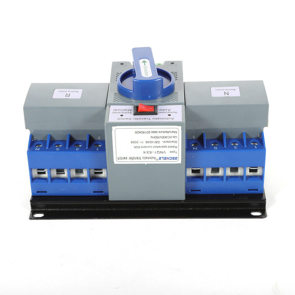 Ats Ac110v 63a 4p Dual Power Automatic Transfer Switches For 4 Circuit Switch Generator Self Cast