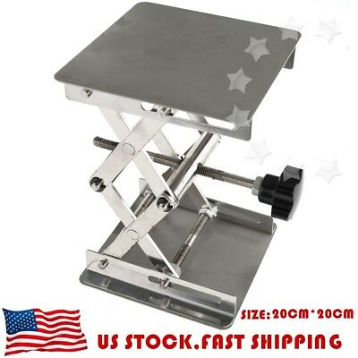 20x20cm Lifting Platforms Stand Rack Scissor Lab Jack Overall Height 28cm