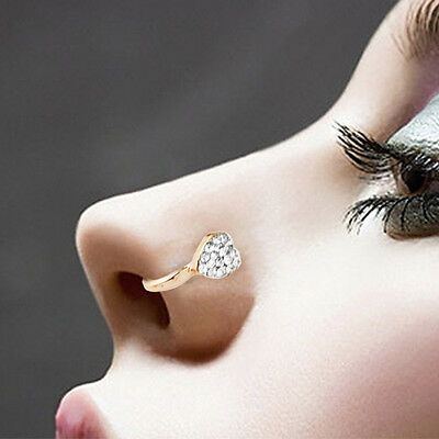 3pcs Rhinestone Star Circle Nose Hoop Ring Earring Body Piercing Jewelry USA