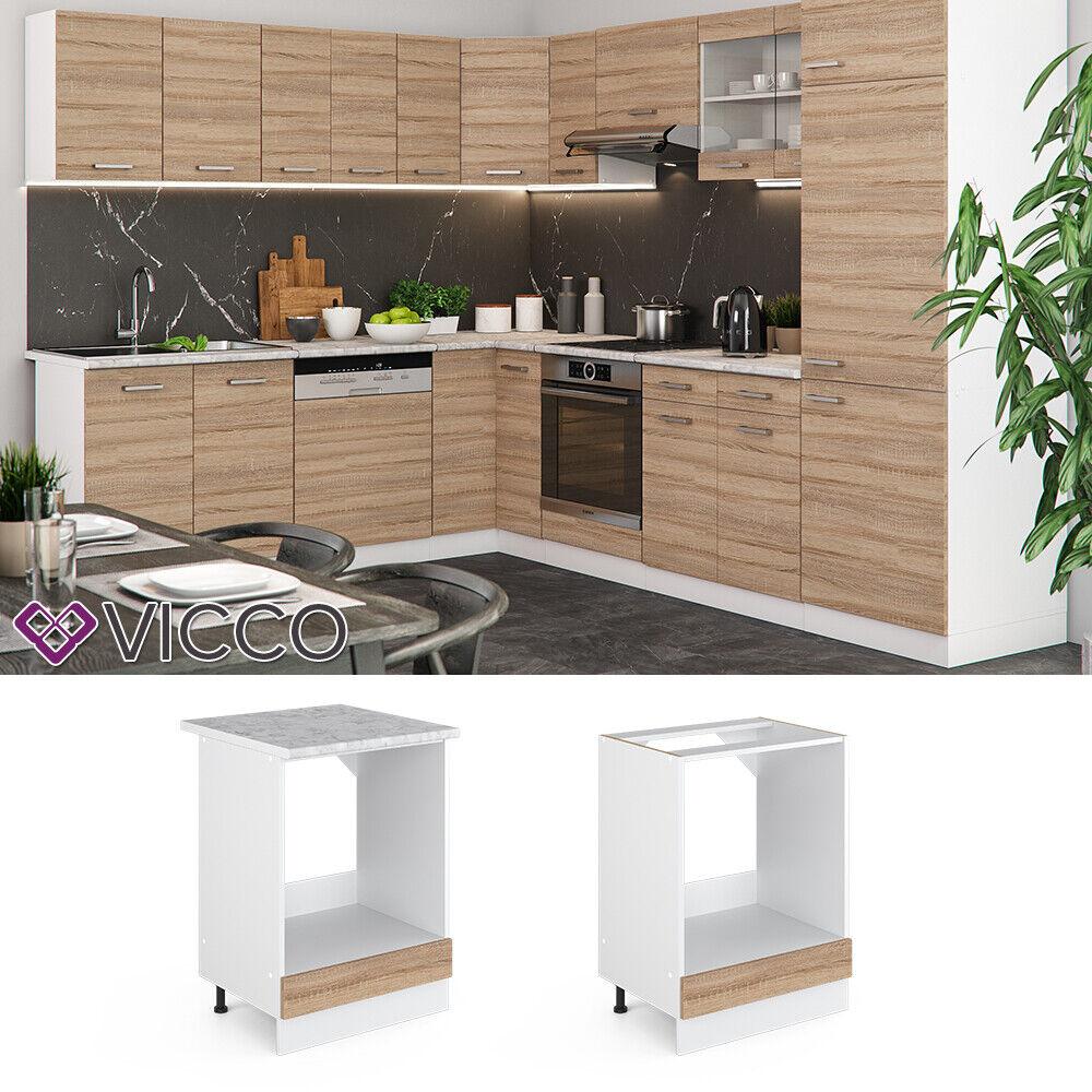 VICCO Küchenschrank Hängeschrank Unterschrank Küchenzeile R-Line Herdumbauschrank 60 cm sonoma