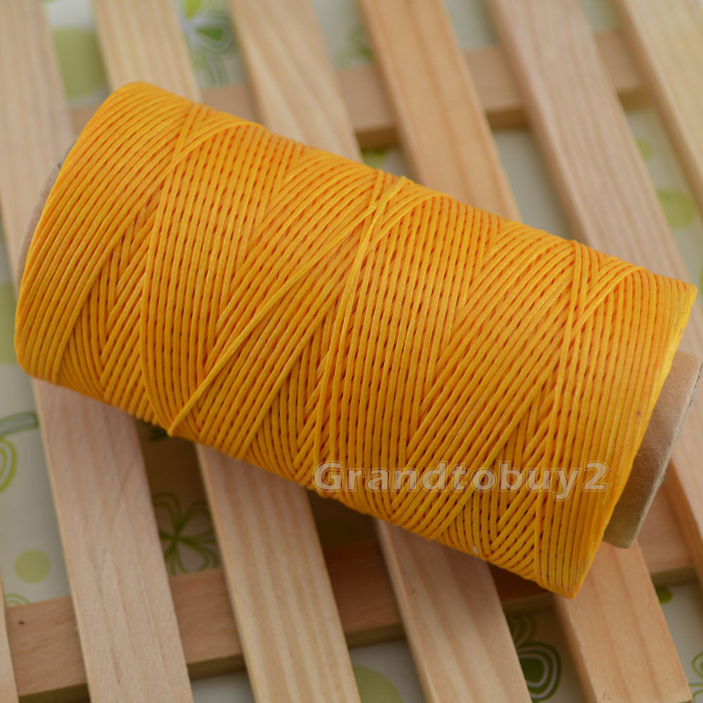 284yards 19 Colors 0.8mm Sewing Leather Waxed Thread Cord Leather Craft Yellow