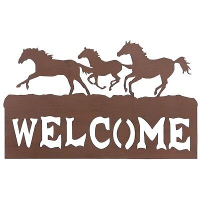Gift Corral Western Themed Home Decor Horses Welcome Plaque (8