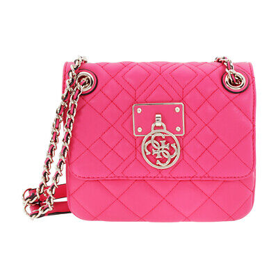 Guess Aliza Ladies Small Flamingo Leather Crossbody Bag VG610921-FLM