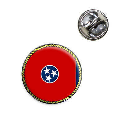 Tennessee State Flag Lapel Hat Tie Pin -