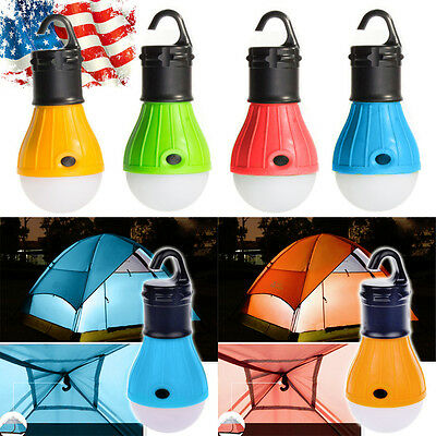 Emergency Lamp Tent Light Lantern LED Portable w/ Hook Outdoor Camping Hiking US