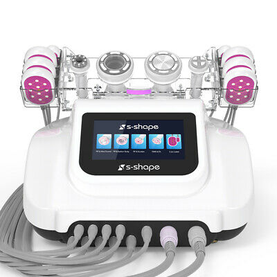 S-shape Ultrasound Cavitation Vacuum Suction Led Laser Body Slimming Machine