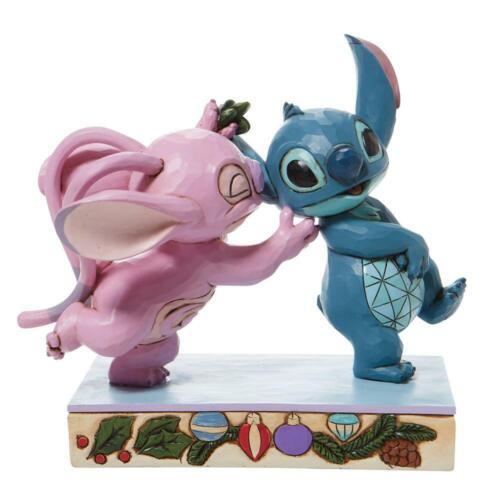 Disney Traditions Jim Shore 2021 Stitch & Angel Mistletoe Kisses Figurine