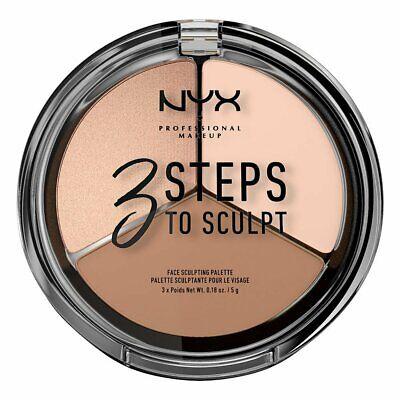 Face Makeup Steps (NYX 3 Steps To Sculpt Face Sculpting Palette, 3STS01)