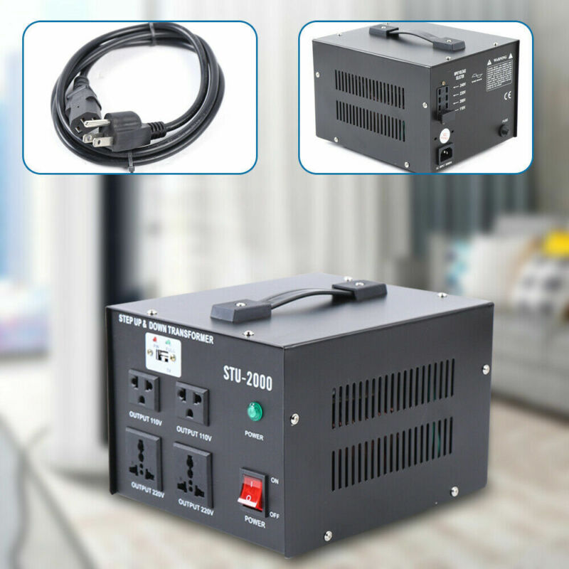 2KW USB Voltage Converter Transformer Set UP&DOWN 110V⇋220V Voltage Transformer