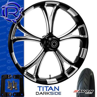 Rotation Titan DarkSide Motorcycle Wheel Kawasaki Vaquero Vulcan Package 21