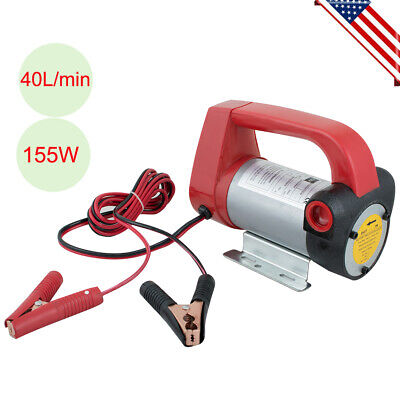 Portable Dc 12v Electric Diesel Oil Fuel Transfer Extractor Pump Motor 155w
