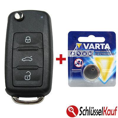 Klappschlüssel Gehäuse Autoschlüssel passend für VW T5 GOLF 6 PASSAT TOURAN EOS
