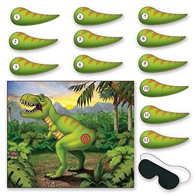 Beistle Pin The Tail on The Dinosaur Game, Multicolored