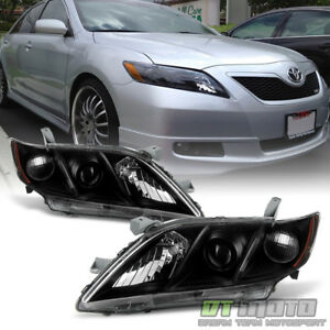 For Black 2007 2008 2009 Toyota Camry Headlights Headlamps Sets Left+Right 07-09
