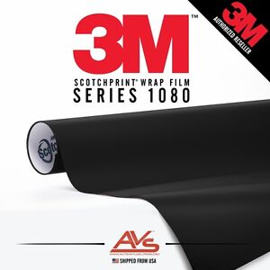 3M 1080 Scotchprint Matte Black Car Wrap Vinyl Film ~ 5ft x 4ft (20sq ft)