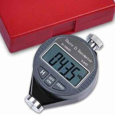 Portable 0-100hd Shore D Hardness Tester Meter Digital Durometer Scale For Rubbe