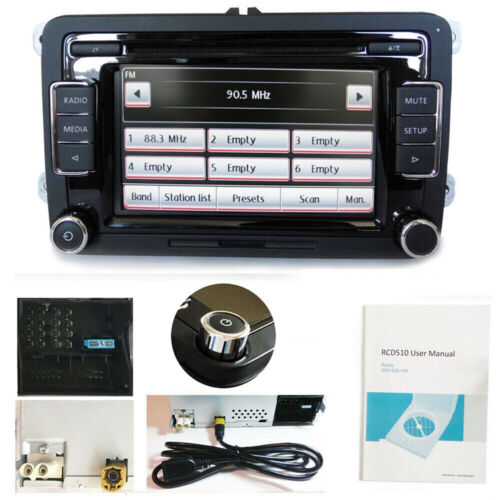 Autoradio RCD510 RVC USB AUX MP3 Für VW GOLF CADDY JETTA SEAT mit GATEWAY /CAN